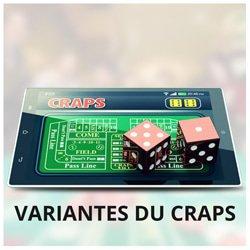 differentes variantes craps